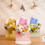 新作紹介◎せっかく花を贈るなら、ちゃんと気持ちを伝えたくない?お手紙を添えた花贈り。フラワーレターボックス〈メッセージカード付〉