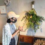 【お花屋さんのレッスン受けてきた】グリーンのスワッグを作りにいきました【Fleurs Cinq@flower shop ibi】